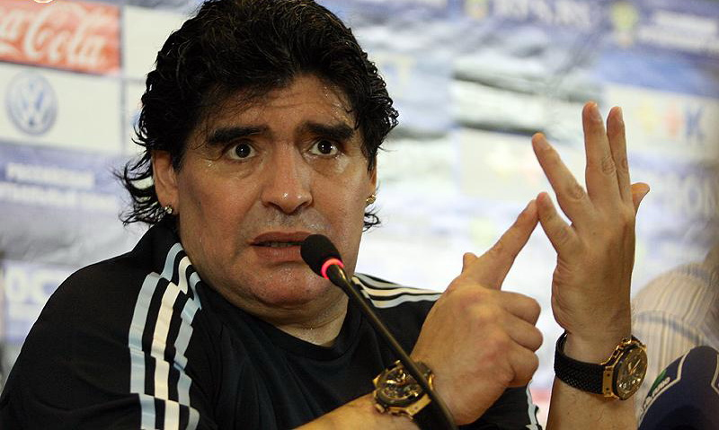 """Diego Maradona: """"Messi and Cristiano Ronaldo are a Step Above All Others."""""""
