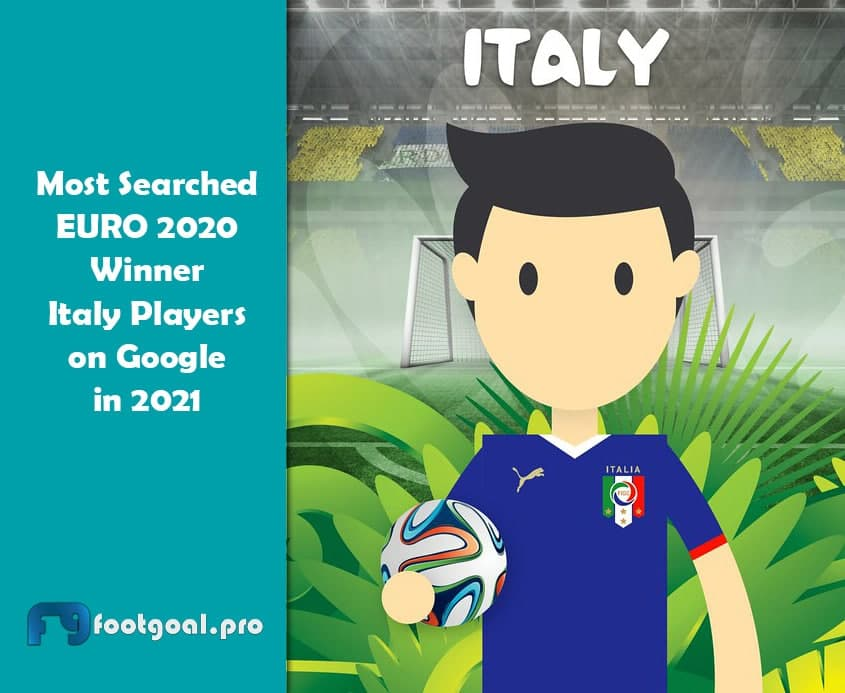 Most Searched EURO 2020 Winner Italy Players on Google in 2021